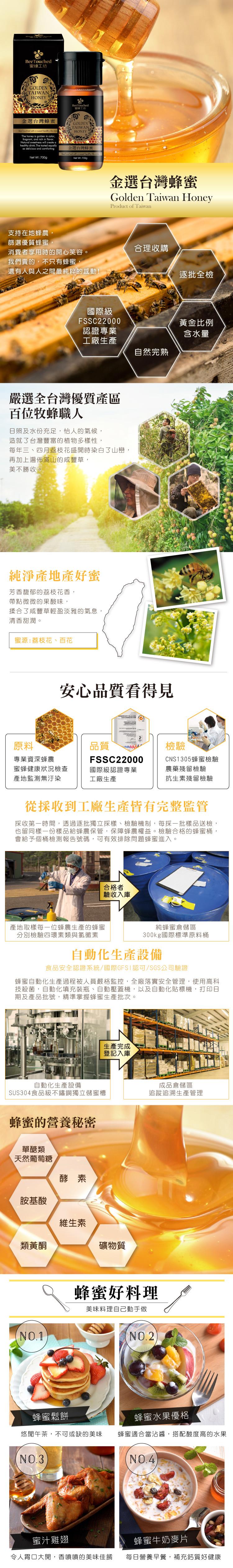 蜜蜂工坊-金選台灣蜂蜜700g
